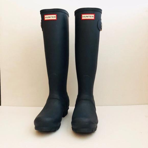 5ecaff9bbfaf Hunter Original Tall Rain Boots Women's Navy NWT